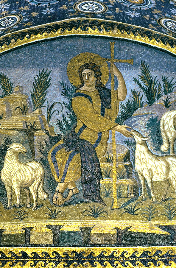Christ as the Good Shepherd, Mausoleum of Galla Placidia