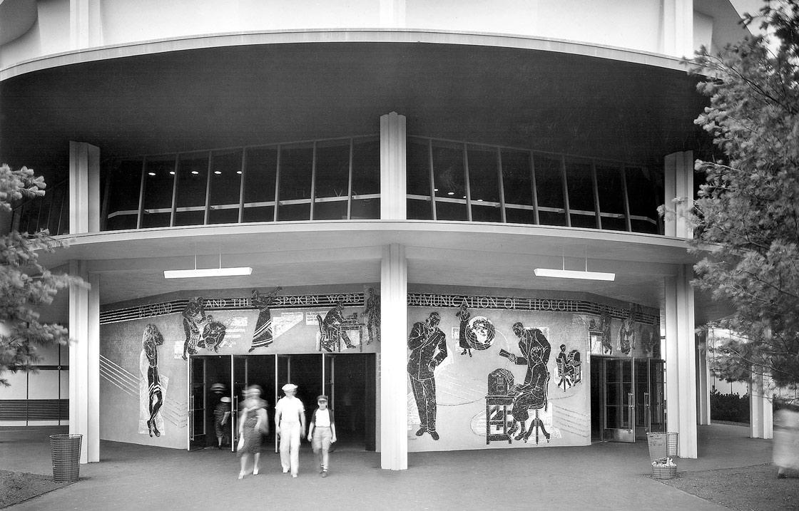 Entrances to Voder Room auditorium