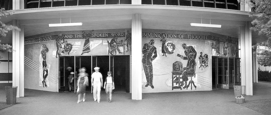 Entrances to Voder Room auditorium Banner