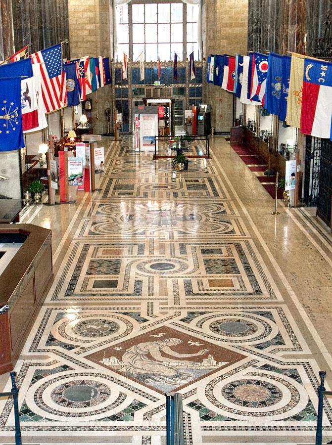 Banking hall floor