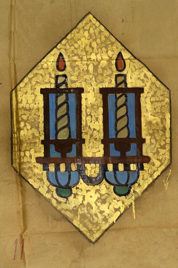 Hildreth Meière, Eternal Light, cartoon in gouache on paper for main arch, Temple Emanu-El, 1929. Collection Berlinische Galerie, Museum für Moderne Kunst, Berlin, Germany