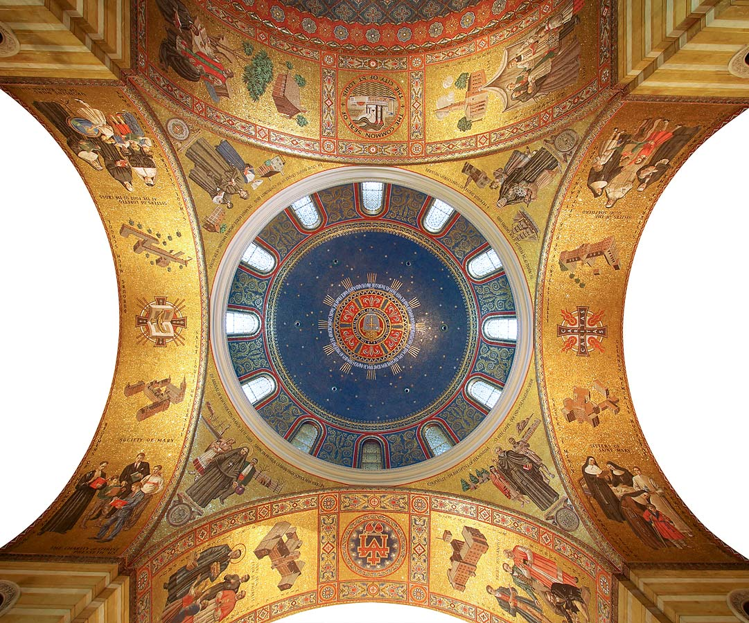 South dome, pendentives, and arches soffits
