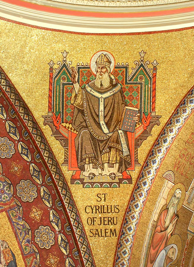 Southwest pendentive with St.Cyril