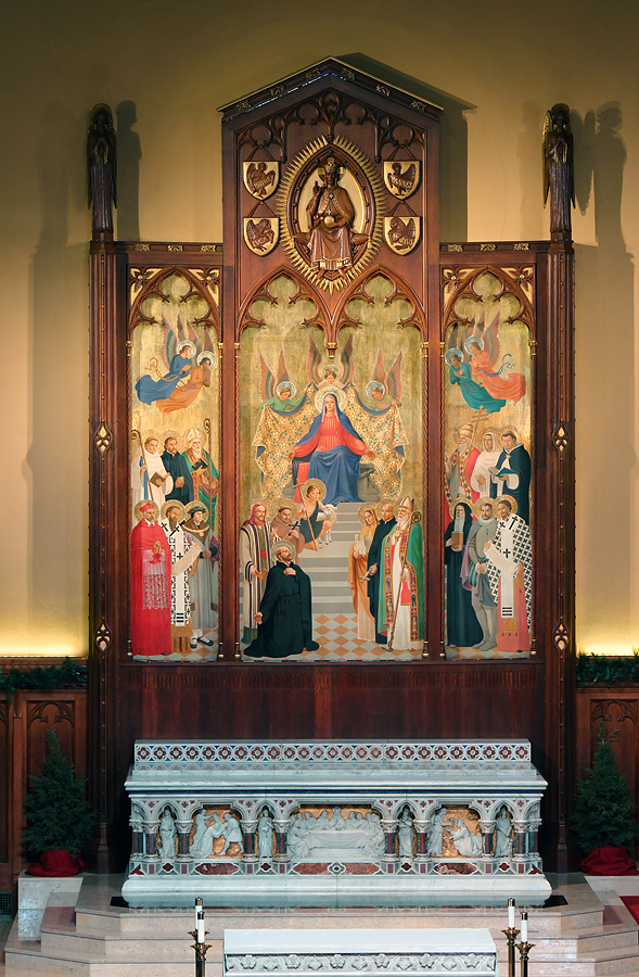 Main altarpiece, Fordham University Church