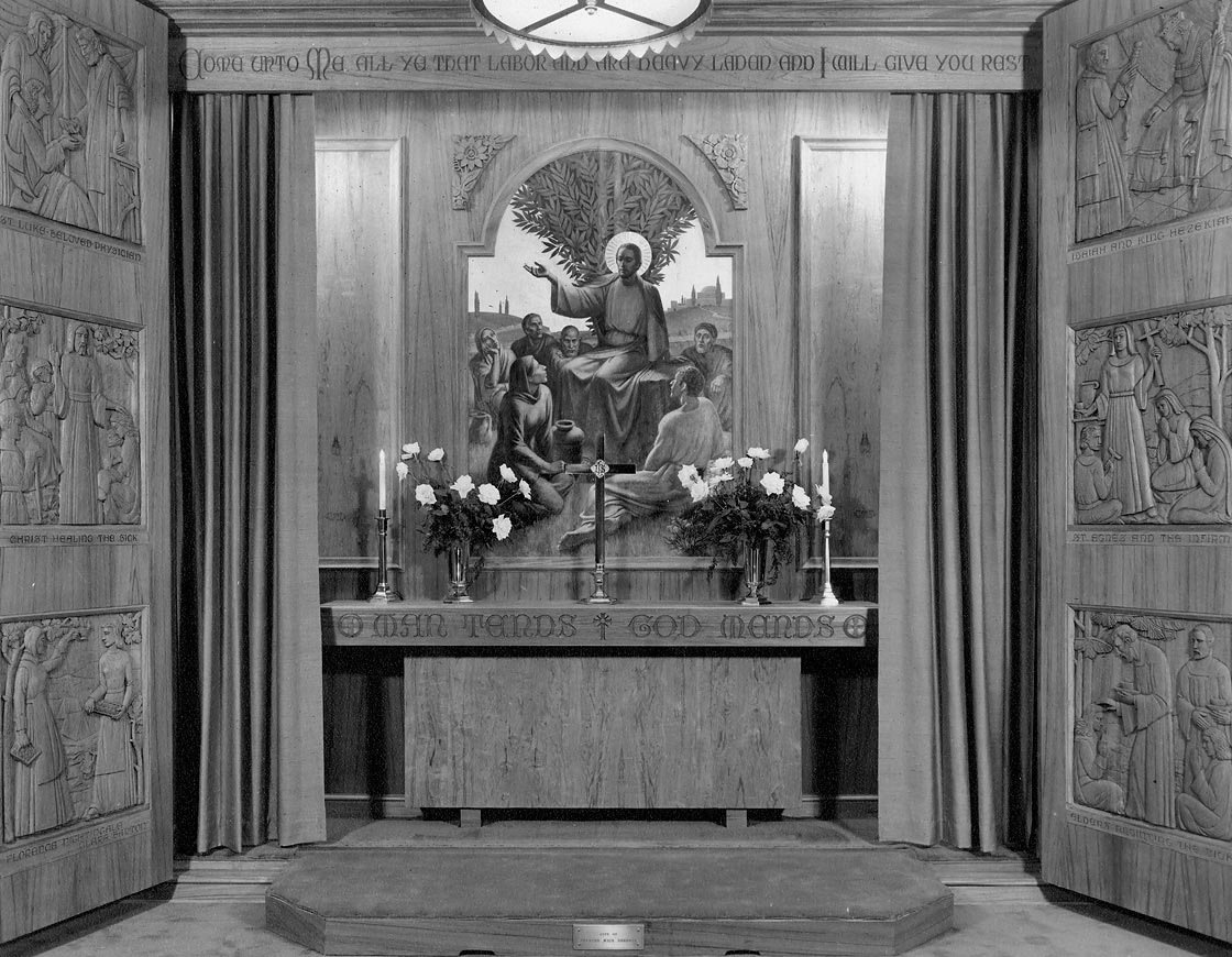 Altarpiece in original site, c. 1947