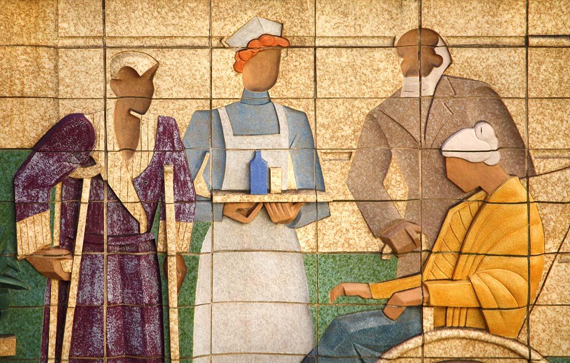 A geriatrics ward