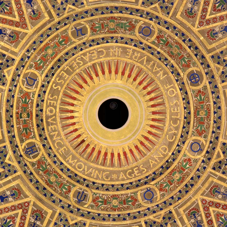 Detail of center of dome