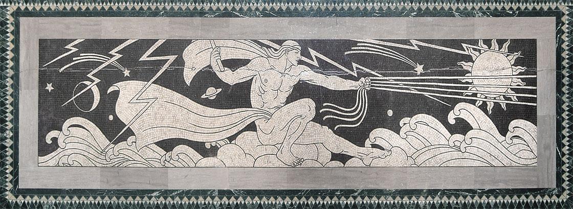 Genius of Creative Energy in marble mosaic