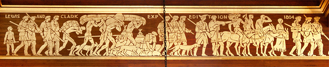 Lewis and Clark Expedition 1804 on south frieze