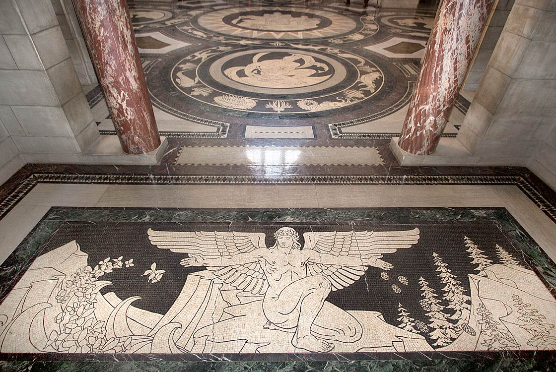 Rotunda floor entrance panels
