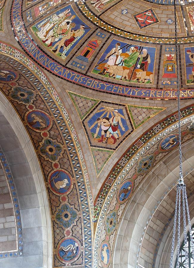 Senate Foyer Ceiling : Nebraska state capitol vestibule dome arch soffits