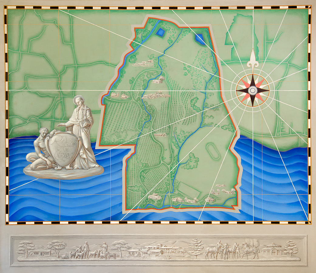 Frieze attached to Map of Rancho San Carlos. ©Jim Barsch, 2014
