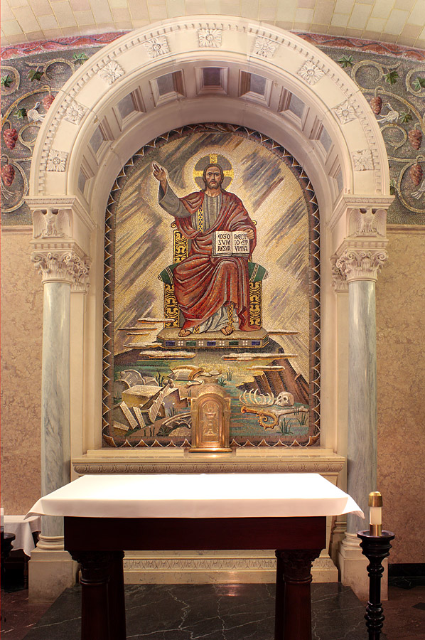 Altarpiece in crypt chapel