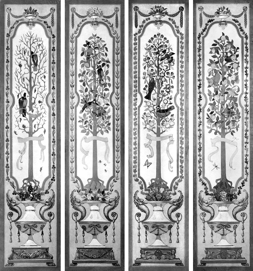 Four Seasons panels for S.J. Fuller breakfast room