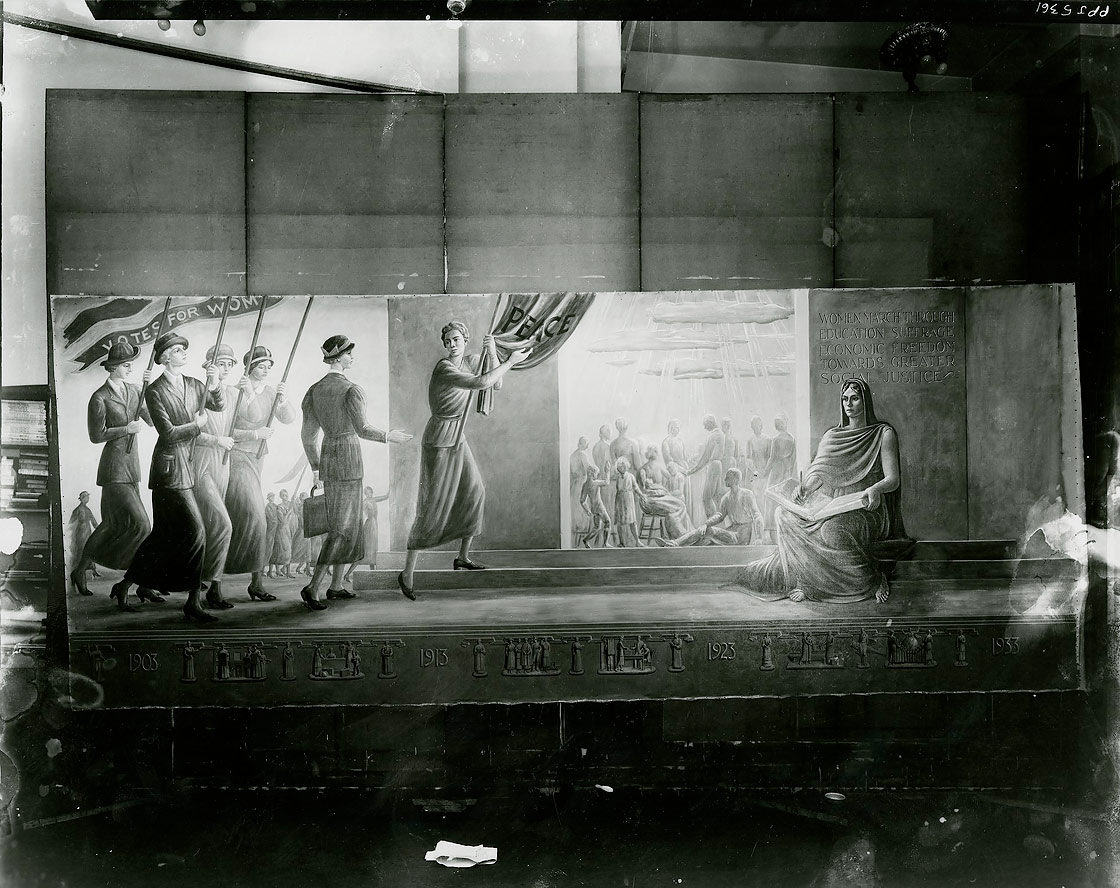 Hildreth Meière, The Onward March of Women, right panel, 1933, photograph by Peter A. Juley