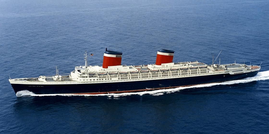 S.S. United States under sail