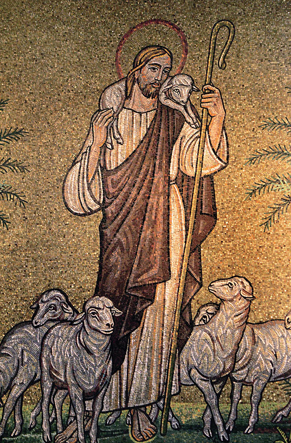 Christ as the Good Shepherd, St. Aloysius. Courtesy Archdiocese of Detroit