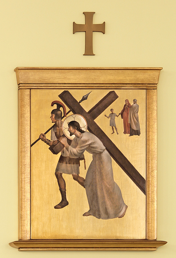 Jesus accepts his cross