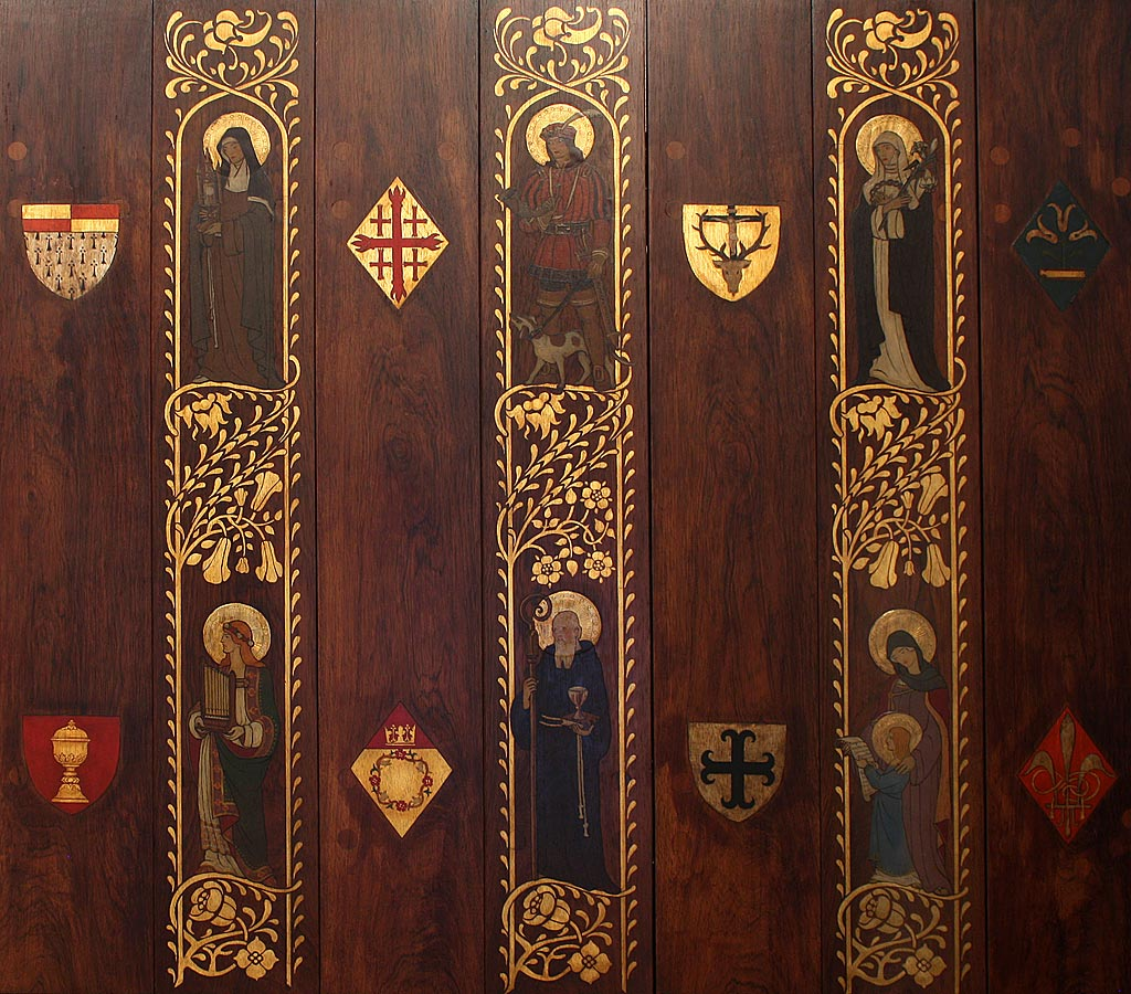 Individual saints on right door panel