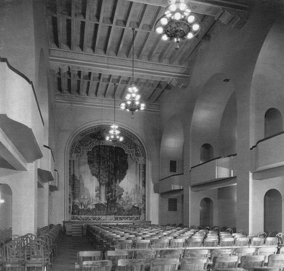 Theater curtain in auditorium