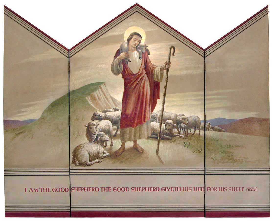 Triptych 116, Christ as the Good Shepherd