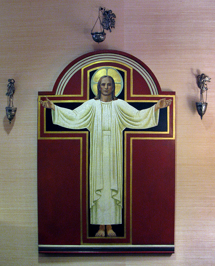 Center section of Triptych 18 at Church of the Holy Family
