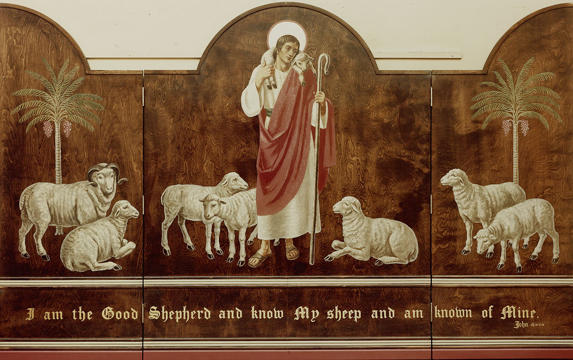 Triptych 405, Christ as the Good Shepherd. Photograph in Citizens Committee for the Army, Navy, and Air Force records, 1940-1945. Archives of American Art, Smithsonian Institution, Washington, DC