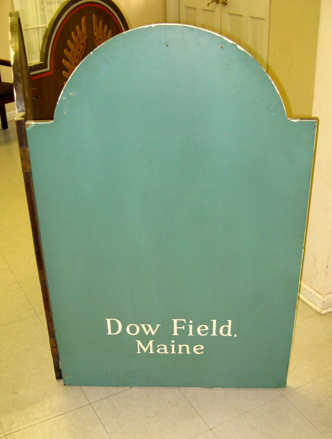 """Dow Field, Maine"" inscribed on verso of left panel"