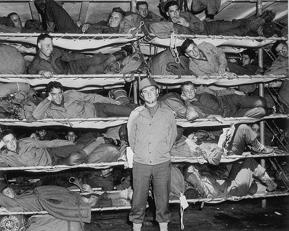 1st Lt. Chetlain Sigman with members of Signal Corps aboard U.S.S. Westpoint. Photograph Library of Virginia
