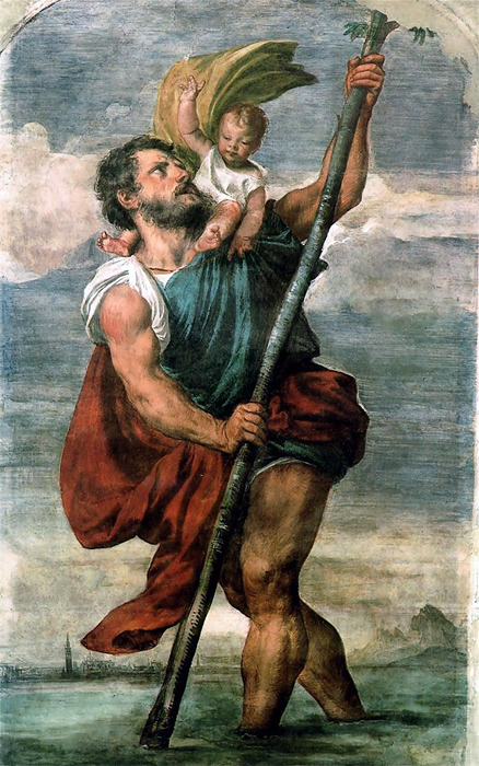 Titian, St. Christopher Carrying the Christ Child, 1524